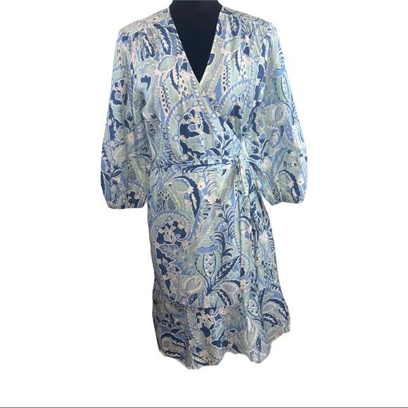 J McLaughlin Silk Blend Wrap Dress
